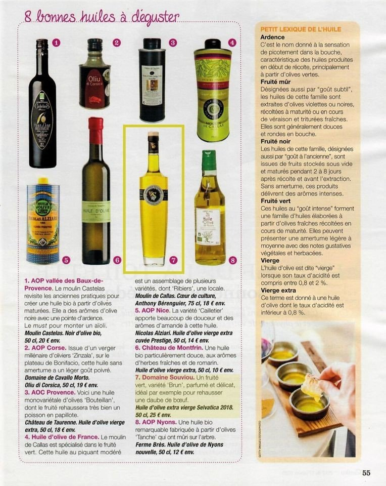 Read more about the article Huile d'Olive Selvatica 2018