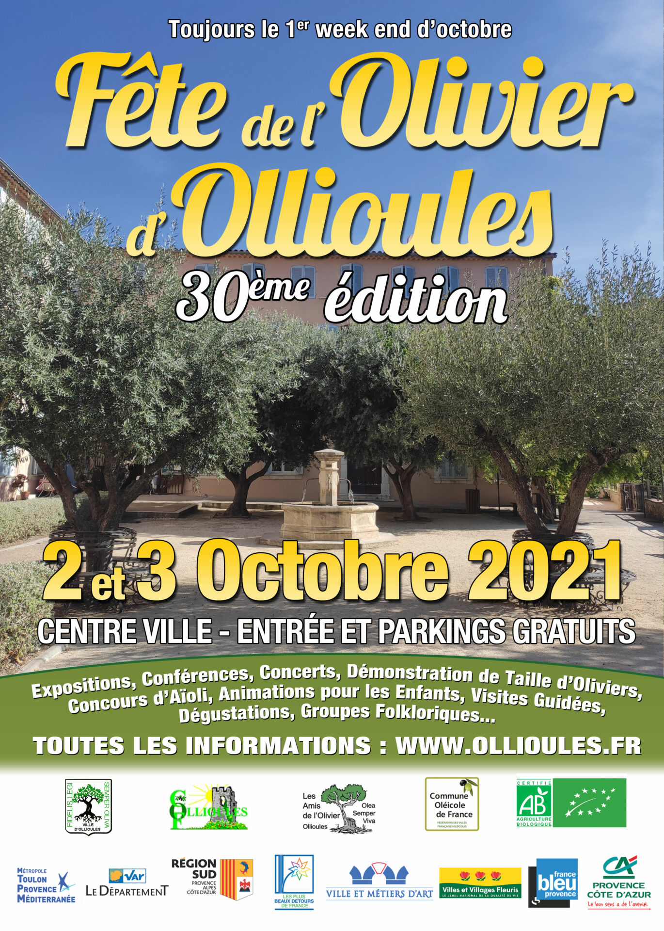 Read more about the article Festival of the Olive Tree of Ollioules – Saturday, October 2, 2021